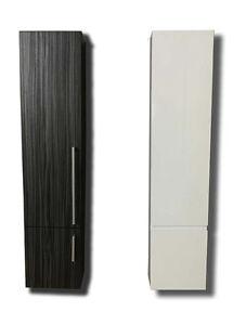 Mobile bagno colonna pensile bagno 130cm armadio bianco - Mobile bagno nero lucido ...