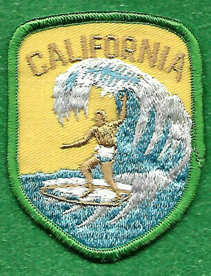 "Vintage Malibu Windsurfing Patch California Surf Badge 2/"" Sew on"