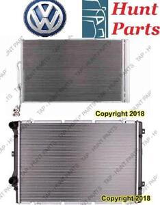 All VW AC compressor Condenser Radiator Support Fan Cooling Compresseur AC Condenseur Radiateur Support Ventilateur