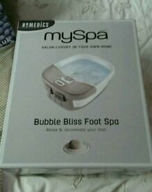 BRAND NEW! homedics bubble bliss foot spa