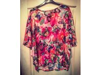 BRAND NEW Quiz Ladies Butterfly Blouse - Size 12