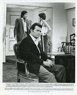 JAMES GARNER MARCIA STRASSMAN GEORGE LOROS THE ROCKFORD FILES 1979 NBC TV PHOTO