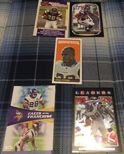 7 Different Adrian Peterson Football Cards - 1 Rookie Card