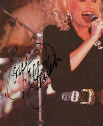 DOLLY PARTON * ON-STAGE* HAND SIGNED /  AUTOGRAPHED 8 X 10 PHOTO