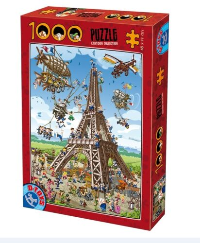 D-Toys 1000 Piece Puzzle - Cartoon Collection The Eiffel Tower