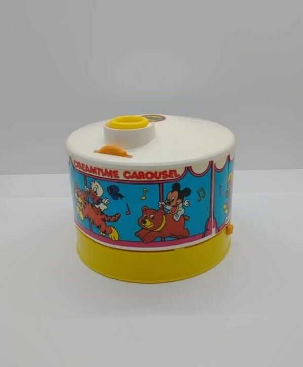 Vintage 1988 Disney Dreamtime Carousel Projector Music BoxWith 2 Discs Works!