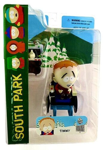 South Park Timmy Figure Wheelchair Time Machine - Mezco Series 3 (2006) NEW!