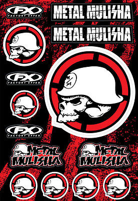 Factory Effex FX LARGE METAL MULISHA STICKER KIT Motorbike Car Truck -