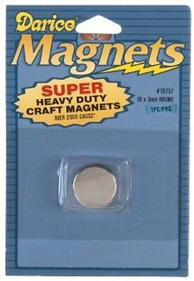 Darice 10757 1-piece Round Magnet 18 By 3 Mm- Super Strong Heavy Duty