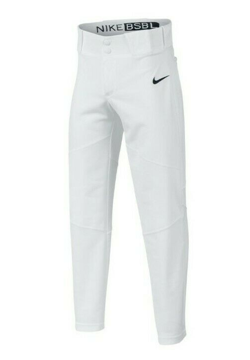 Nike Youth Boys Vapor Pro Baseball Pants Full Length Wolf Gray White XS S M L XL