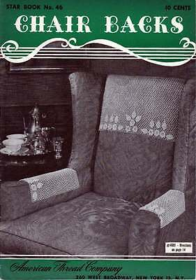 Винтажные CROCHET patterns DOILY Chair Sets