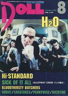 DOLL - H2O - HI-STANDARD - SICK OF IT ALL - PUNK MAGAZINE JAPAN-1999-10  #144 for sale  Upland