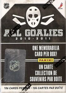 Panini All-Goalies Hockey Hobby Box    (Complete Set)
