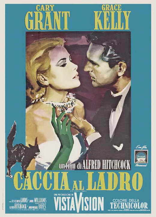 TO CATCH A THIEF Movie POSTER 27x40 French C Cary Grant Grace Kelly Jessie Royce