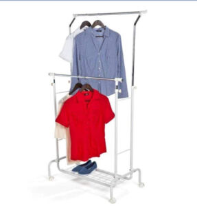 Double clothes rack (with shoe storage)