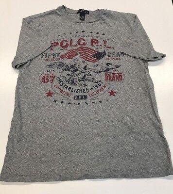 (Polo Ralph Lauren XL (18-20) Youth Sporting Equipment American Flag Eagle T-shir)