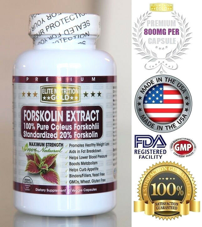 FORSKOLIN EXTRACT 500MG-800MG MAX COLEUS FORSKOHLII Weight Loss 20% STANDARDIZED