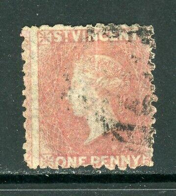 St. Vincent Scott #2 USED Queen Victoria 1p rose CV$20+