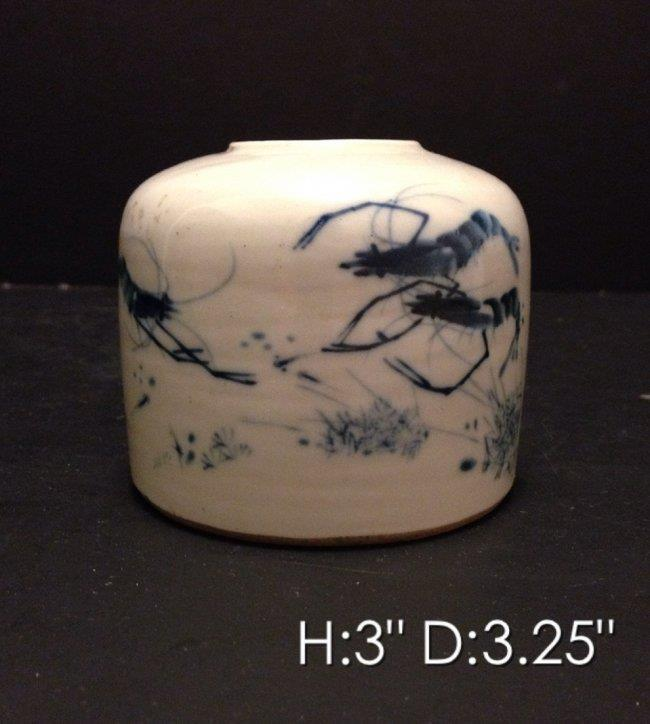 19th C. Chinese Blue & White Porcelin Brush Washer.