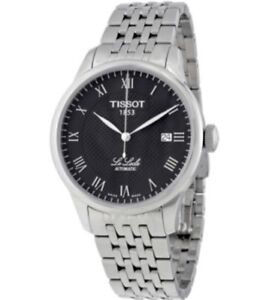 Tissot le Locle black dial automatic watch