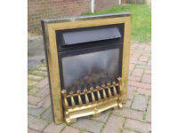 Inset balanced flue 4.3kw gas fire, Verine Ballade with brass magnetic removable surround