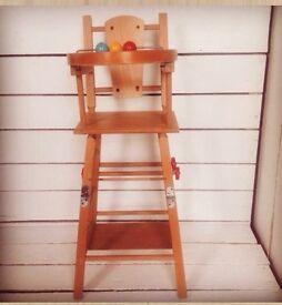 Vintage dolls high chair