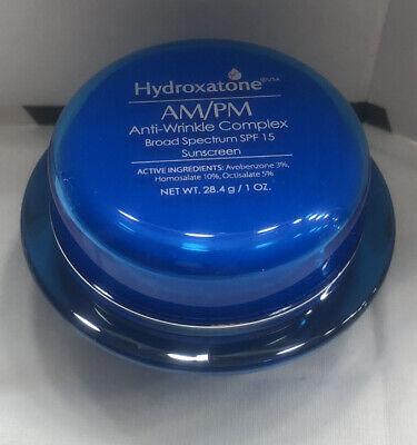 Hydroxatone AM/PM Anti Wrinkle Complex Face Cream 1 oz w/ SPF 15, Anti-Aging