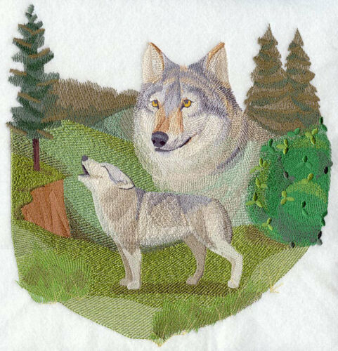 Embroidered Sweatshirt - Spirit of the Wolf J4088