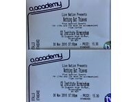 Nothing But Thieves 2x Standing O2 Institute Birmingham 30.11.16 ONLY £32