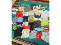Bundle of boys clothes ages 9 to 18 months.