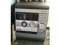 3 disc cd player, radio and tape deck