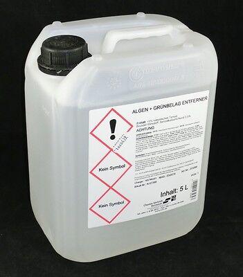 Grünbelag Entferner Konzentrat 5L Algen und Moos Entferner Reiniger (1,80 €/L)