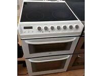 ZAUNASSI 60CM CREMIC ELECTRIC COOKER, 4 MONTHS WARRANTY, EXCELLENT CONDITION