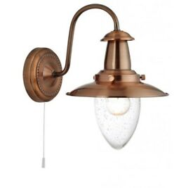 2 x Copper Fisherman Wall Lights