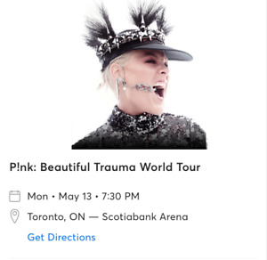 Pink Ticket Beautiful Trauma World Tour @Toronto @May 13th