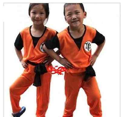 Dragon Ball Z GOKU Costume Anime Cosplay 4 size For Child Children Free Ship - Anime Costumes For Kids