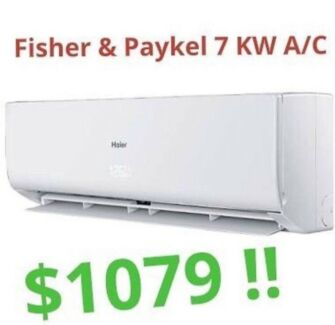 *** Fisher & Paykel 7KW Split System Air Conditioner *** $1079