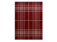 Red check rug