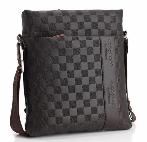 Bag - Men's Leather Crossbody Messenger Shoulder Bags Handbag Satchel Casual Day Bag