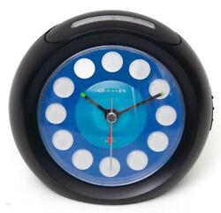 Crosley Quiet Sweep USB Charging Ports Modern Ball Alarm Clock (Black) 33862