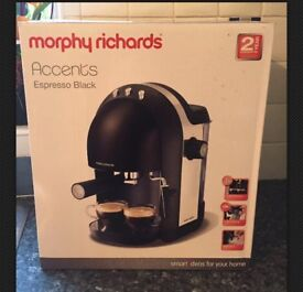 Morphy Richards Accents Espresso Coffee Maker - Black