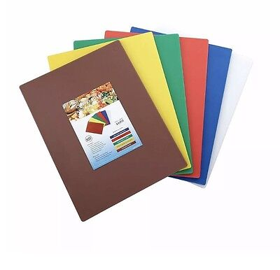 Cutting Board Set, 15-Inch by 20-Inch by 1/2-Inch, Assorted Colors Set Of 6