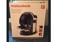 Morphy Richards Accents Espresso Coffee Maker - Black