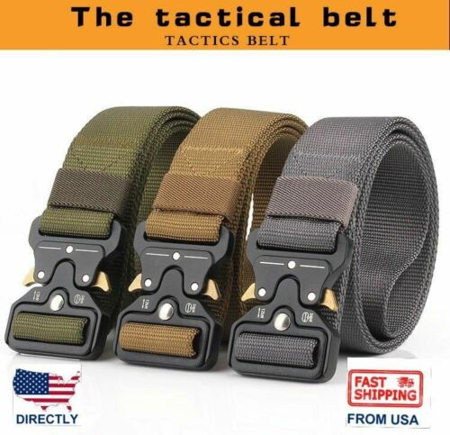 """1.5"""" Magnetic Quick Release Buckle Nylon Webbing Military Tactical Belt"""