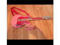 ELC pink guitar and headset
