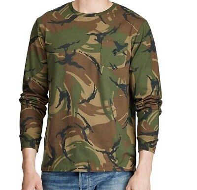 Polo Ralph Lauren Camo Long Sleeve Pocket T Shirt, Size Small NWT