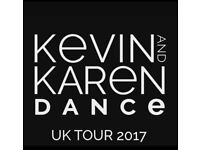 7 TICKETS TO SEE KEVIN AND KAREN DANCE TOUR IN MANCHESTER
