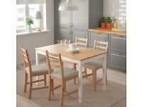 IKEA Lerhamn Dining Table & 4 chairs