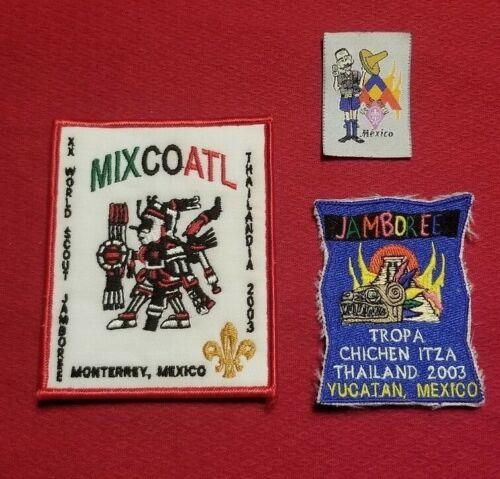 2003 Mexico Contingent Patches Chichen Itza, Monterrey 20th World Jamboree