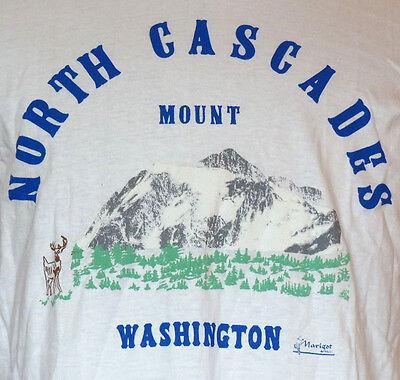 Washington Cascades (North Cascades Mount Washington White T-Shirt L)